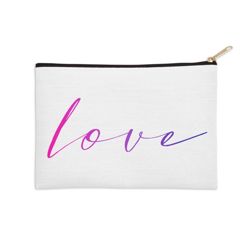 Scripted Love Accessories Zip Pouch by Prismheartstudio 's Artist Shop