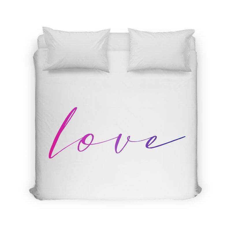 Scripted Love Home Duvet by Prismheartstudio 's Artist Shop