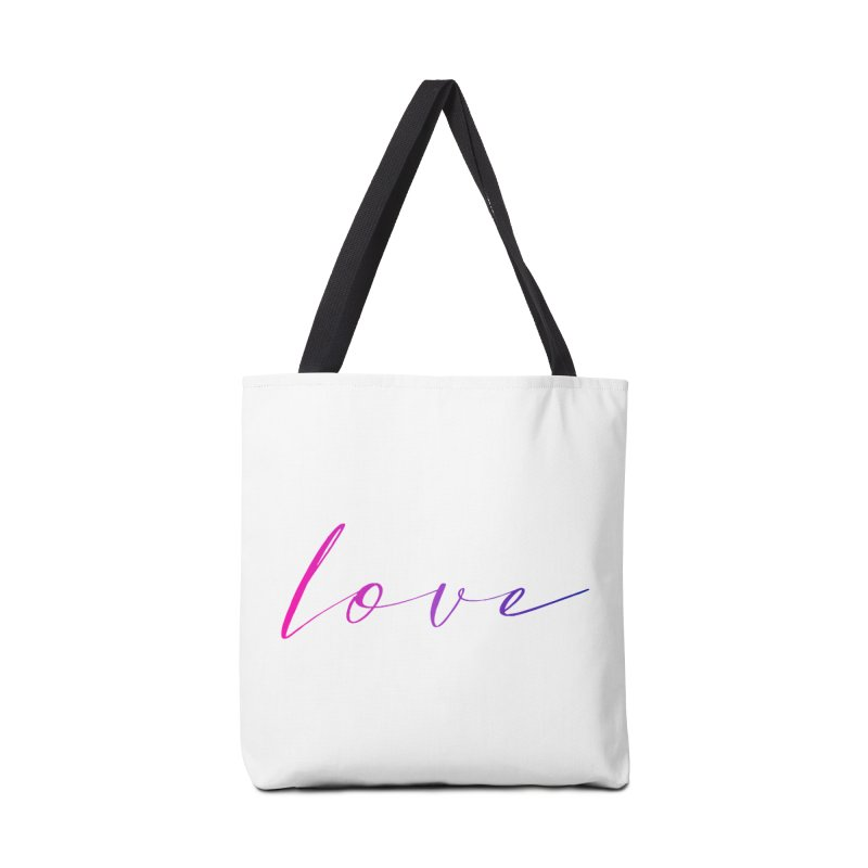 Scripted Love Accessories Bag by Prismheartstudio 's Artist Shop