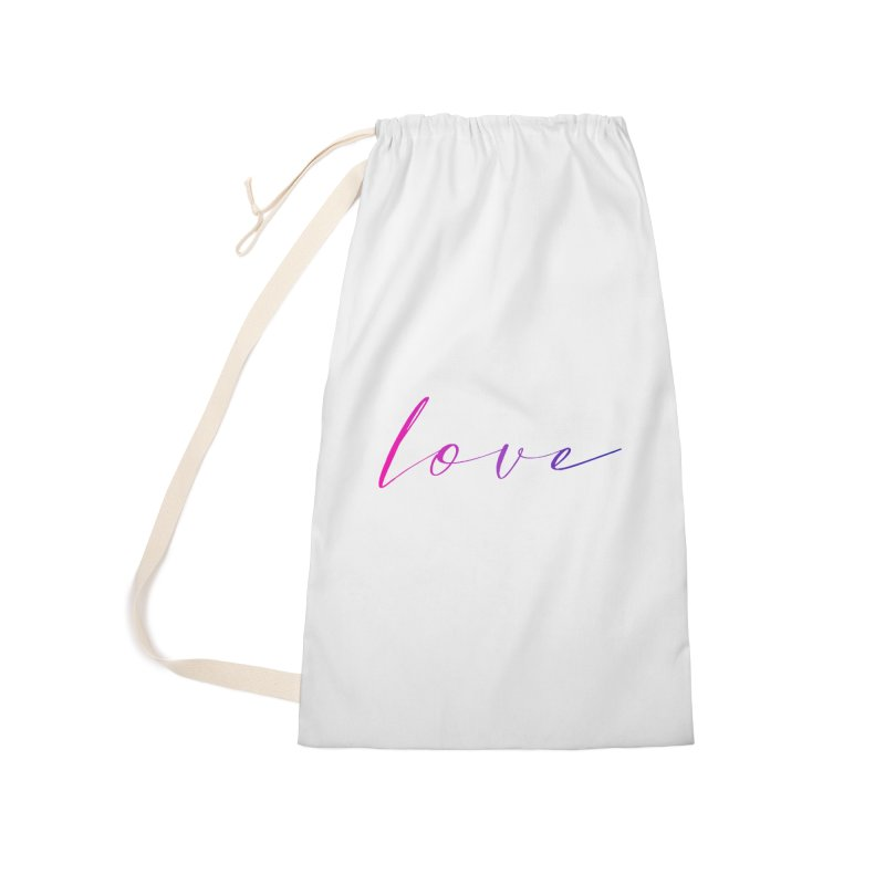 Scripted Love Accessories Laundry Bag Bag by Prismheartstudio 's Artist Shop
