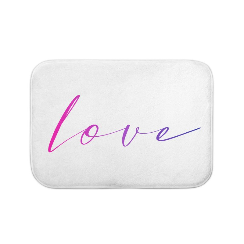 Scripted Love Home Bath Mat by Prismheartstudio 's Artist Shop