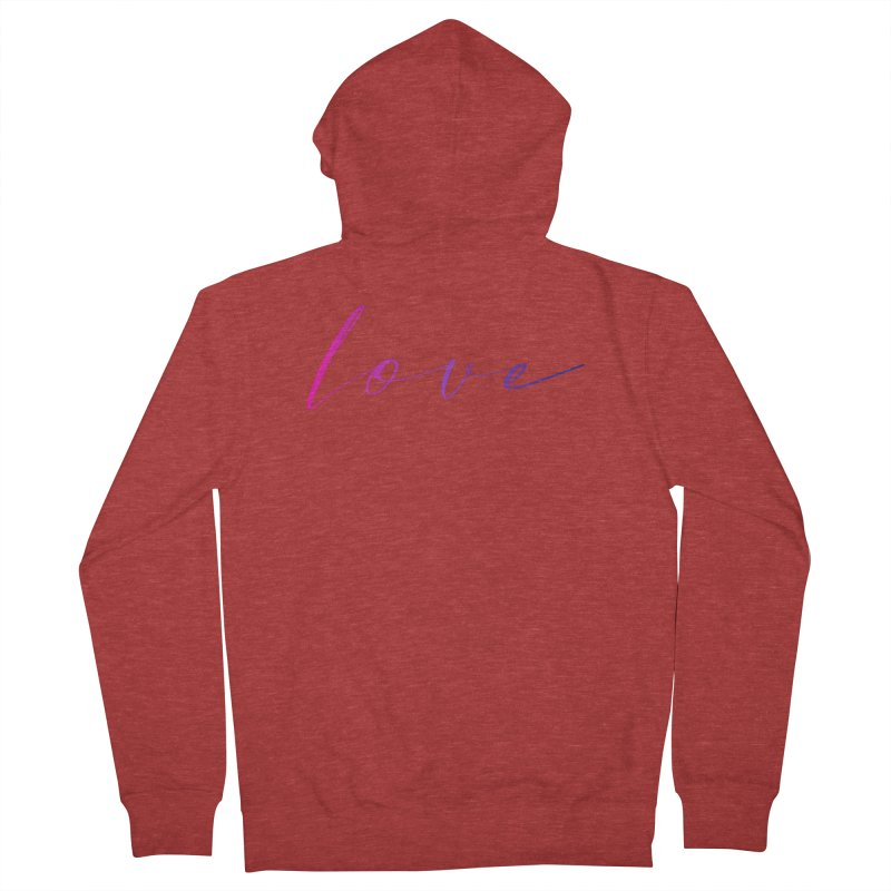 Scripted Love Women's French Terry Zip-Up Hoody by Prismheartstudio 's Artist Shop