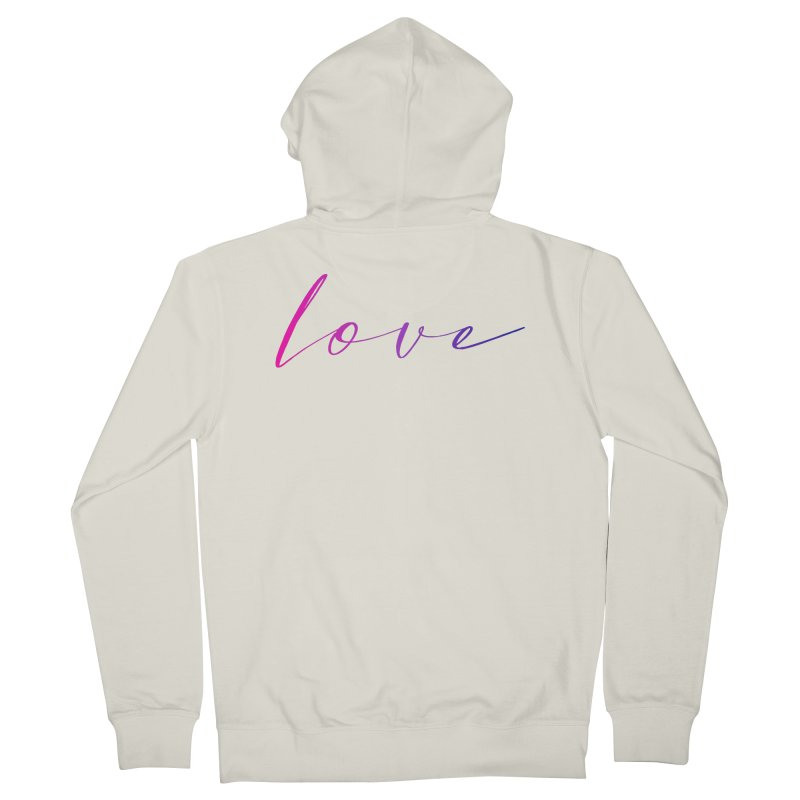 Scripted Love Men's French Terry Zip-Up Hoody by Prismheartstudio 's Artist Shop