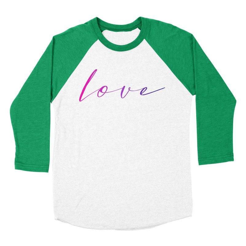 Scripted Love Men's Baseball Triblend Longsleeve T-Shirt by Prismheartstudio 's Artist Shop