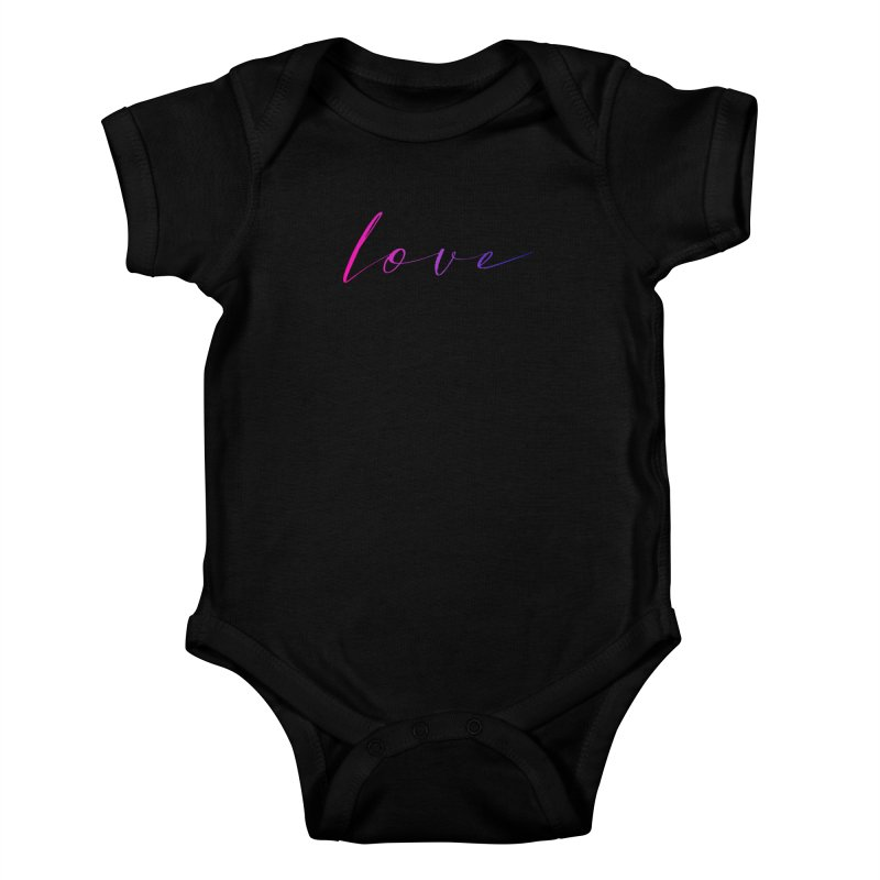 Scripted Love Kids Baby Bodysuit by Prismheartstudio 's Artist Shop