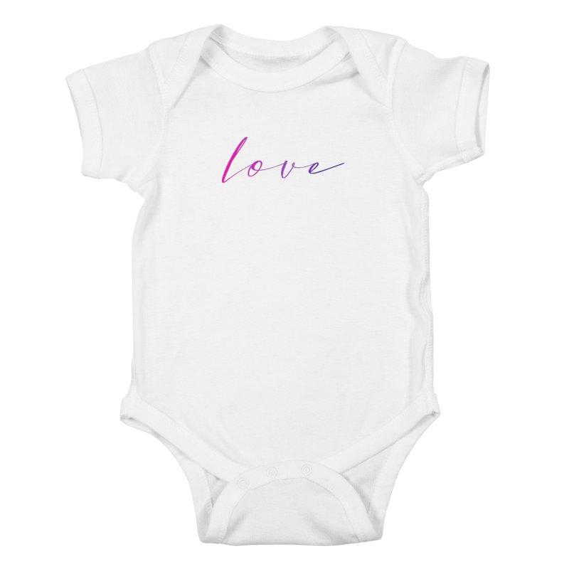 Scripted Love Kids Baby Bodysuit by Prismheartstudio 's Artist Shop
