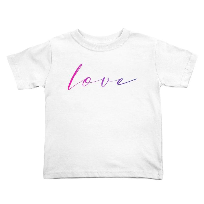 Scripted Love Kids Toddler T-Shirt by Prismheartstudio 's Artist Shop