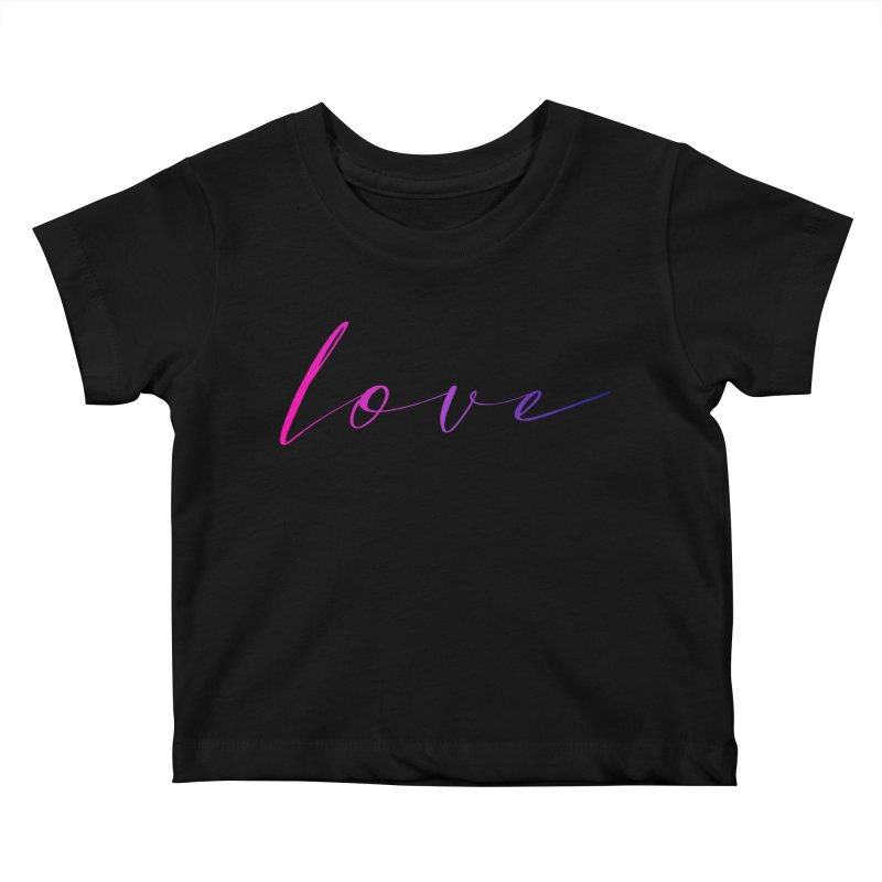 Scripted Love Kids Baby T-Shirt by Prismheartstudio 's Artist Shop