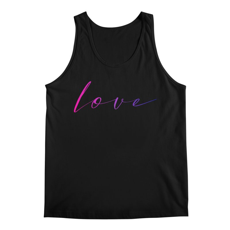 Scripted Love Men's Regular Tank by Prismheartstudio 's Artist Shop