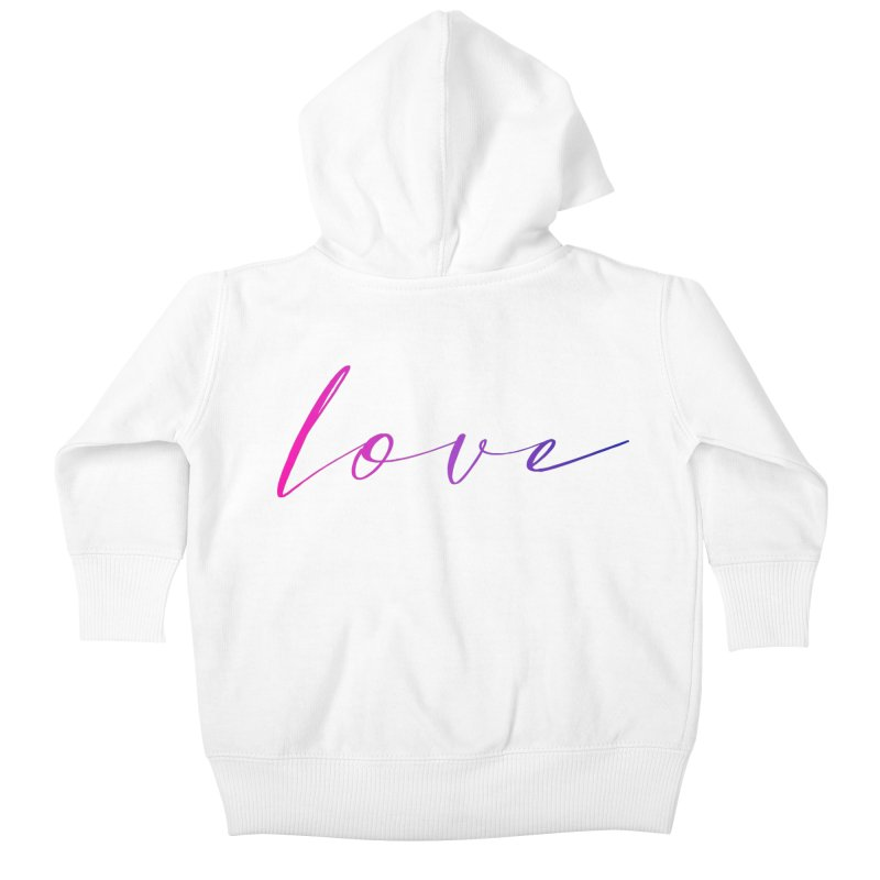 Scripted Love Kids Baby Zip-Up Hoody by Prismheartstudio 's Artist Shop