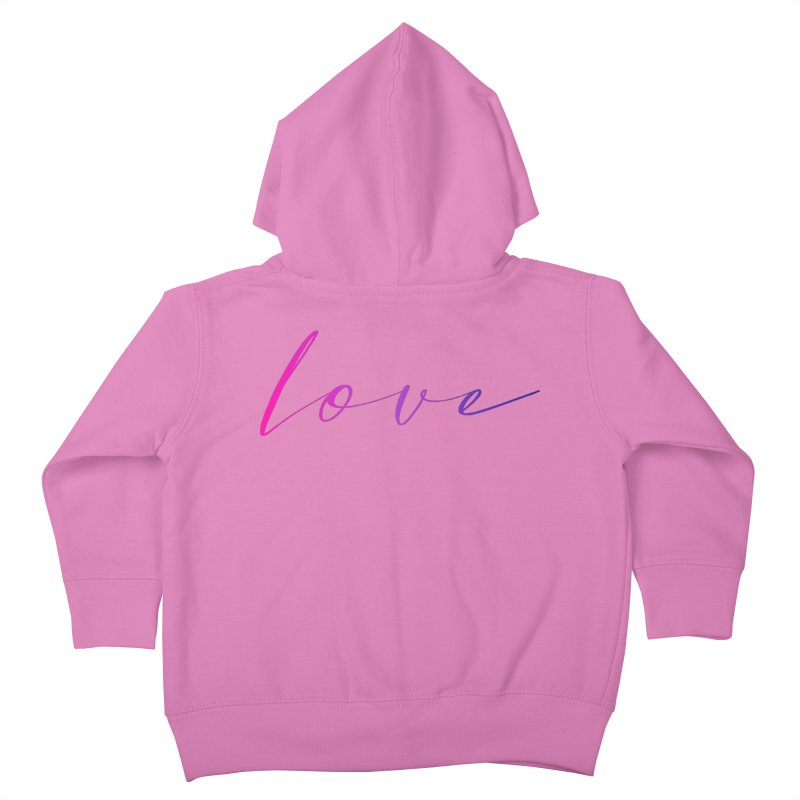Scripted Love Kids Toddler Zip-Up Hoody by Prismheartstudio 's Artist Shop