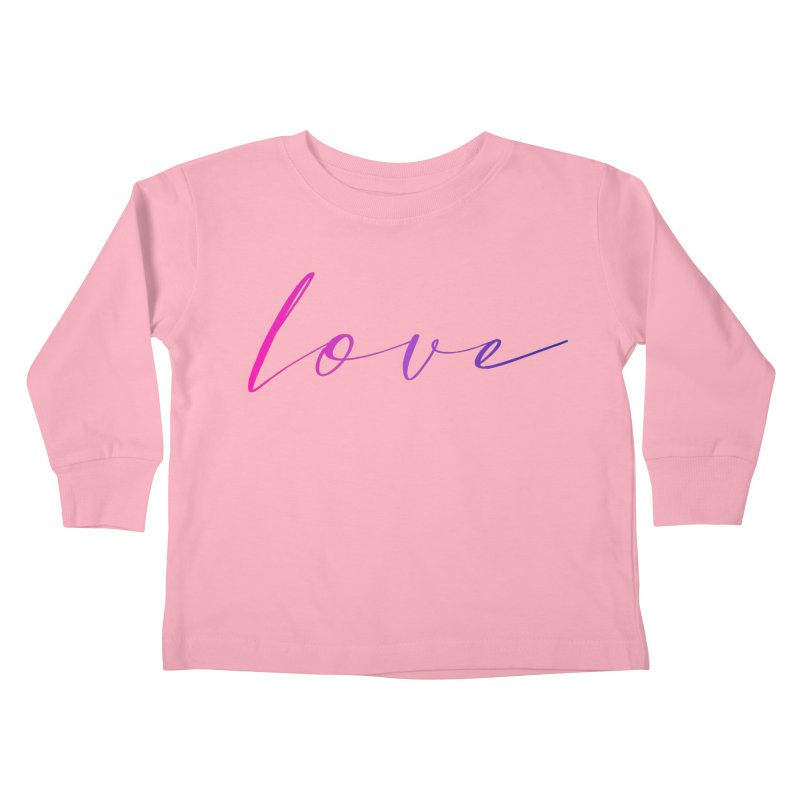 Scripted Love Kids Toddler Longsleeve T-Shirt by Prismheartstudio 's Artist Shop