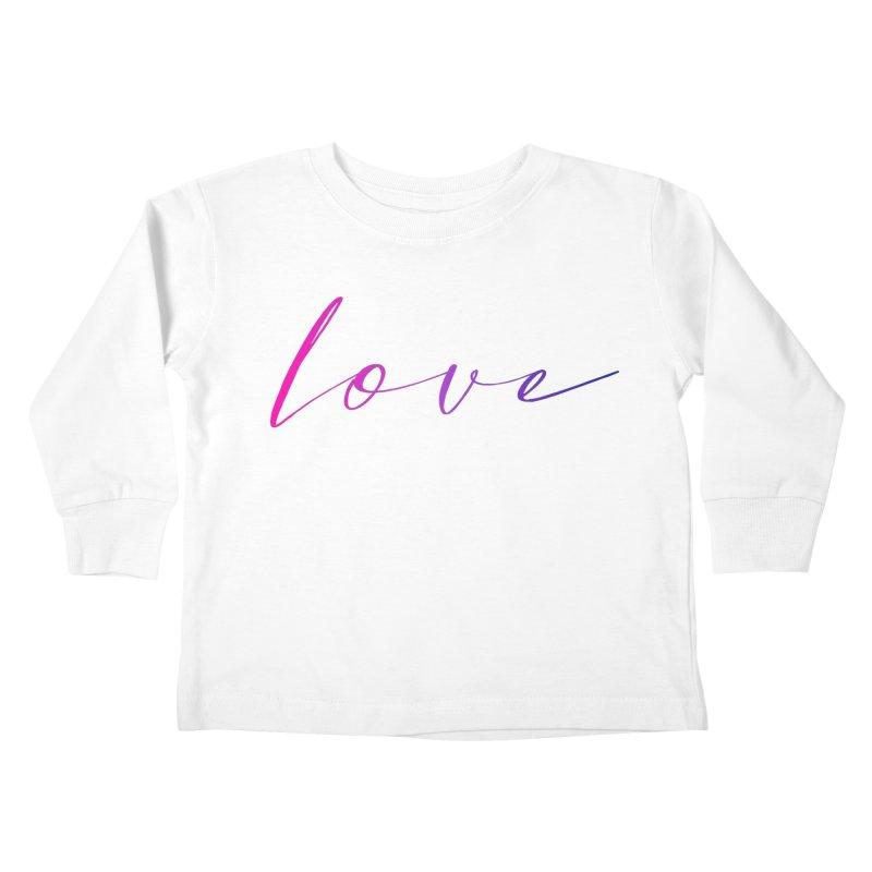 Scripted Love Kids Toddler Longsleeve T-Shirt by Prismheartstudio 's Artist Shop