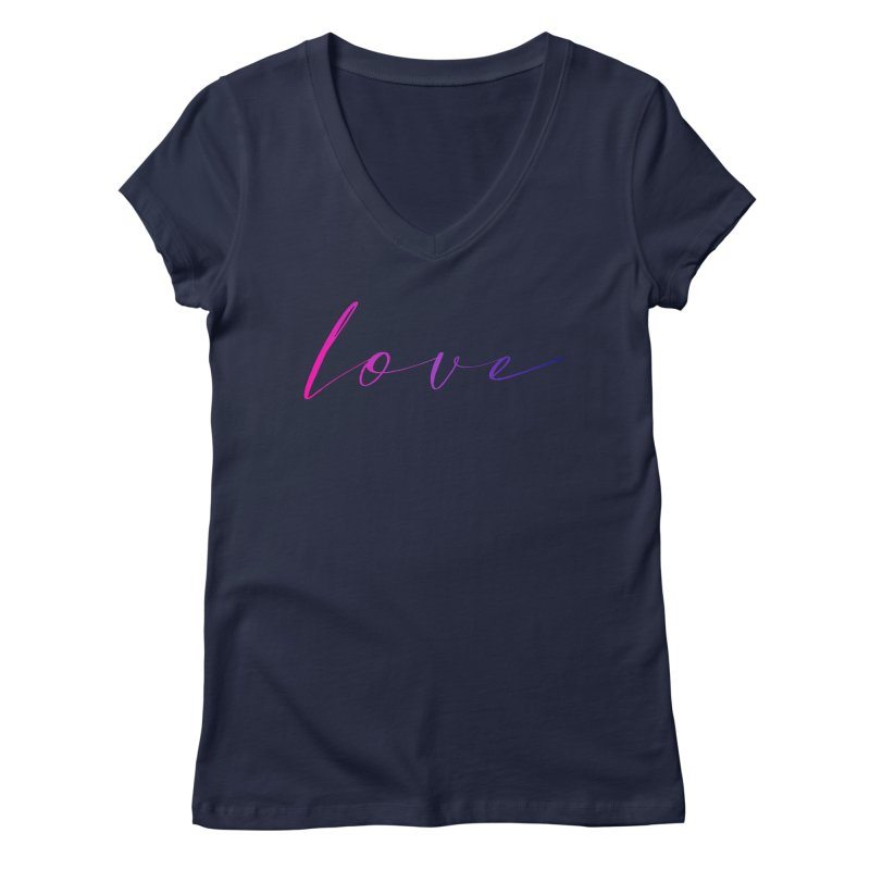 Scripted Love Women's Regular V-Neck by Prismheartstudio 's Artist Shop