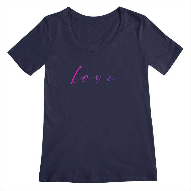 Scripted Love Women's Regular Scoop Neck by Prismheartstudio 's Artist Shop