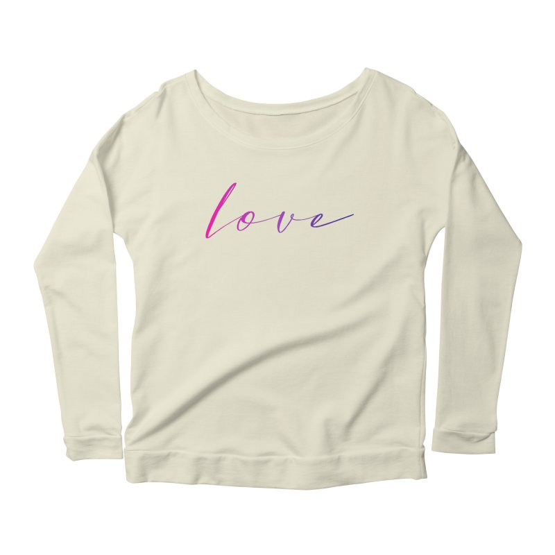 Scripted Love Women's Scoop Neck Longsleeve T-Shirt by Prismheartstudio 's Artist Shop