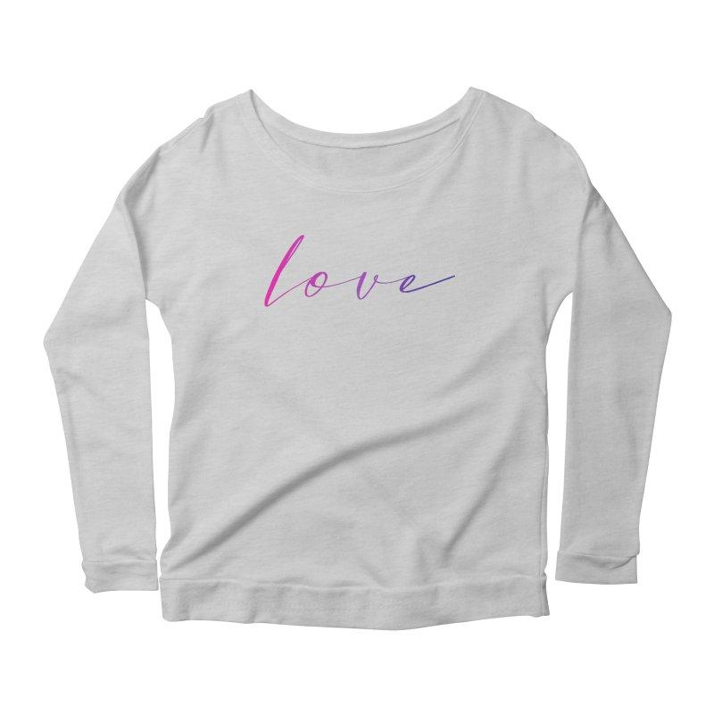 Scripted Love Women's Scoop Neck Longsleeve T-Shirt by Prismheartstudio 's Artist Shop