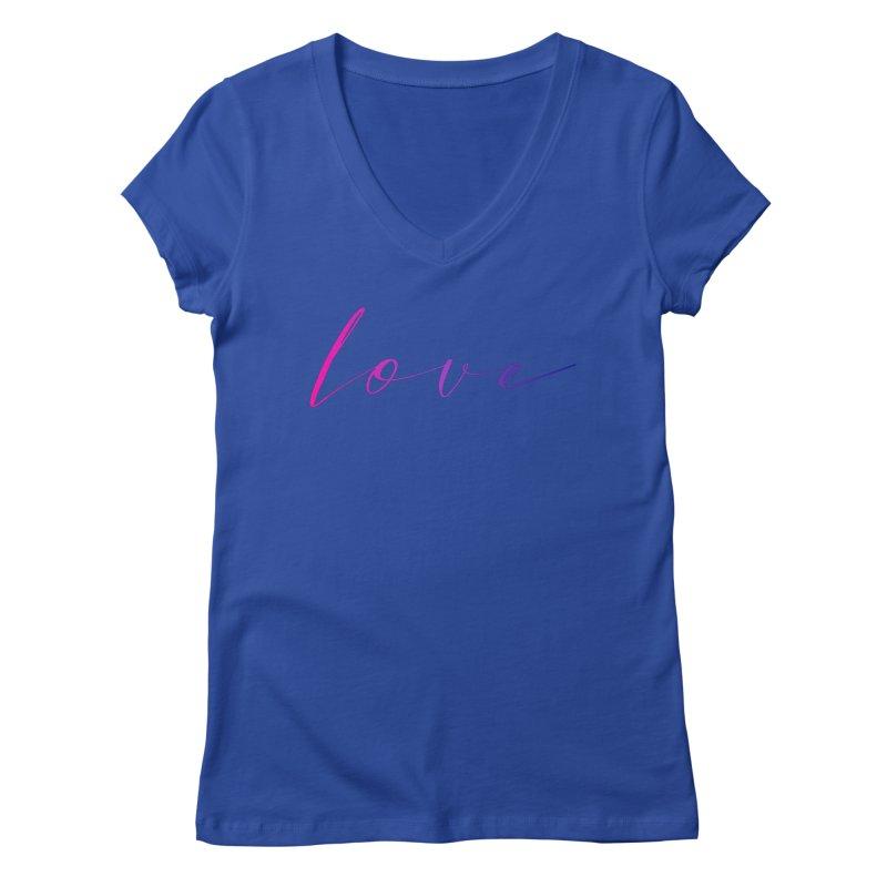 Scripted Love Women's Regular V-Neck by Prismheartstudio 's Artist Shop