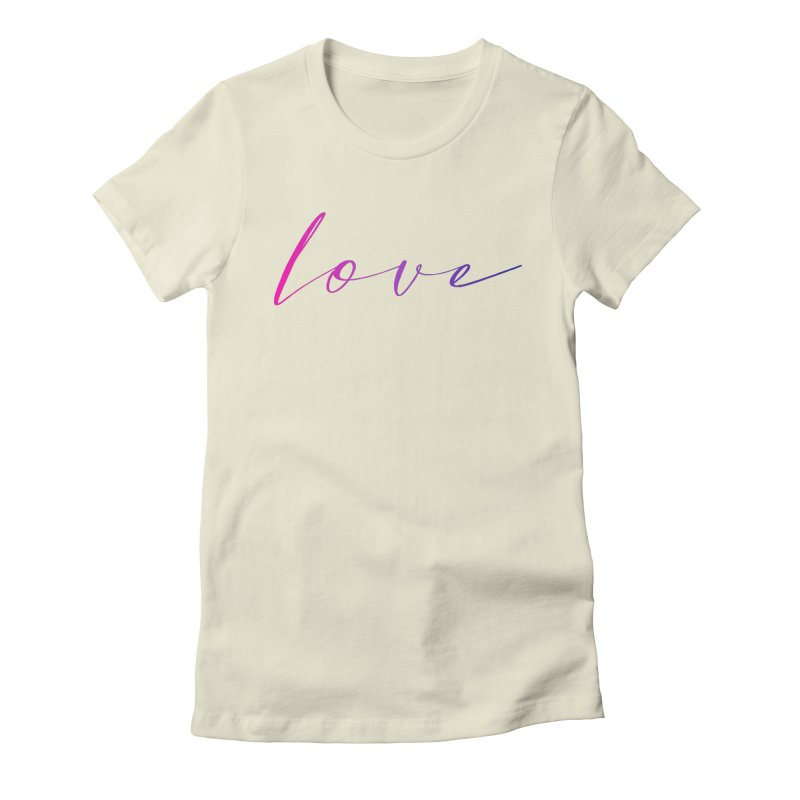 Scripted Love Women's Fitted T-Shirt by Prismheartstudio 's Artist Shop