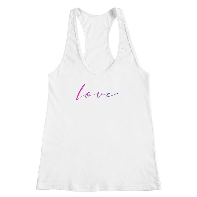 Scripted Love Women's Racerback Tank by Prismheartstudio 's Artist Shop