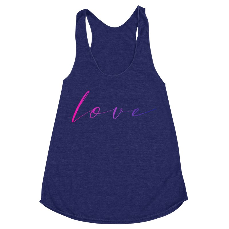 Scripted Love Women's Racerback Triblend Tank by Prismheartstudio 's Artist Shop