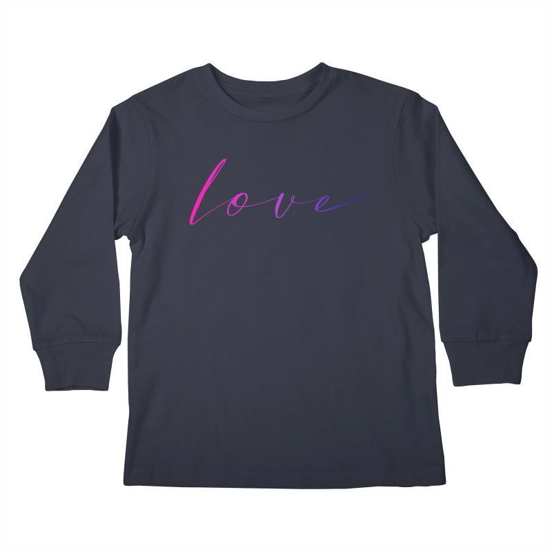 Scripted Love Kids Longsleeve T-Shirt by Prismheartstudio 's Artist Shop