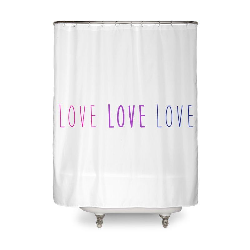 BI LOVE Home Shower Curtain by Prismheartstudio 's Artist Shop