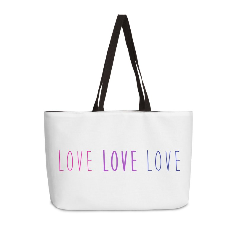 BI LOVE Accessories Weekender Bag Bag by Prismheartstudio 's Artist Shop
