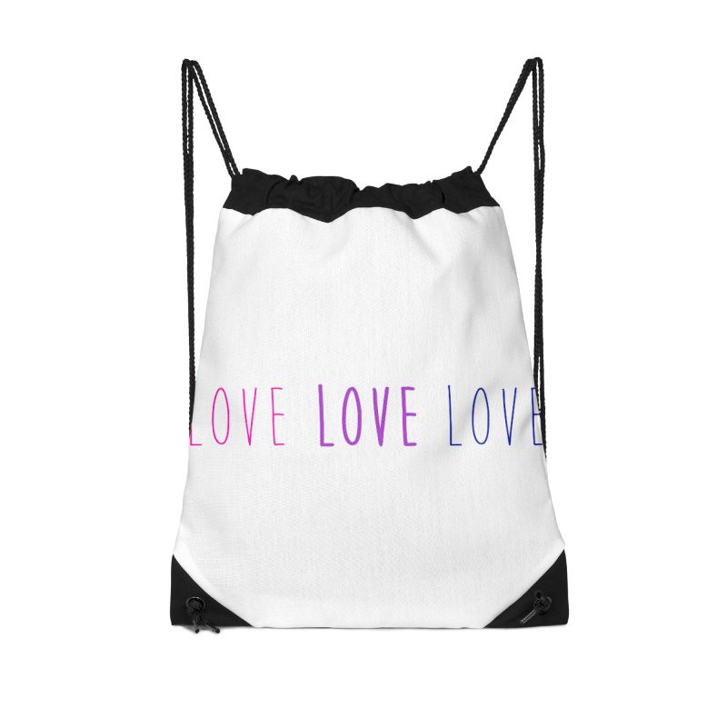 BI LOVE Accessories Drawstring Bag Bag by Prismheartstudio 's Artist Shop