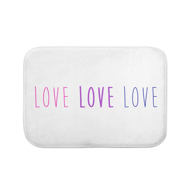 BI LOVE Home Bath Mat by Prismheartstudio 's Artist Shop