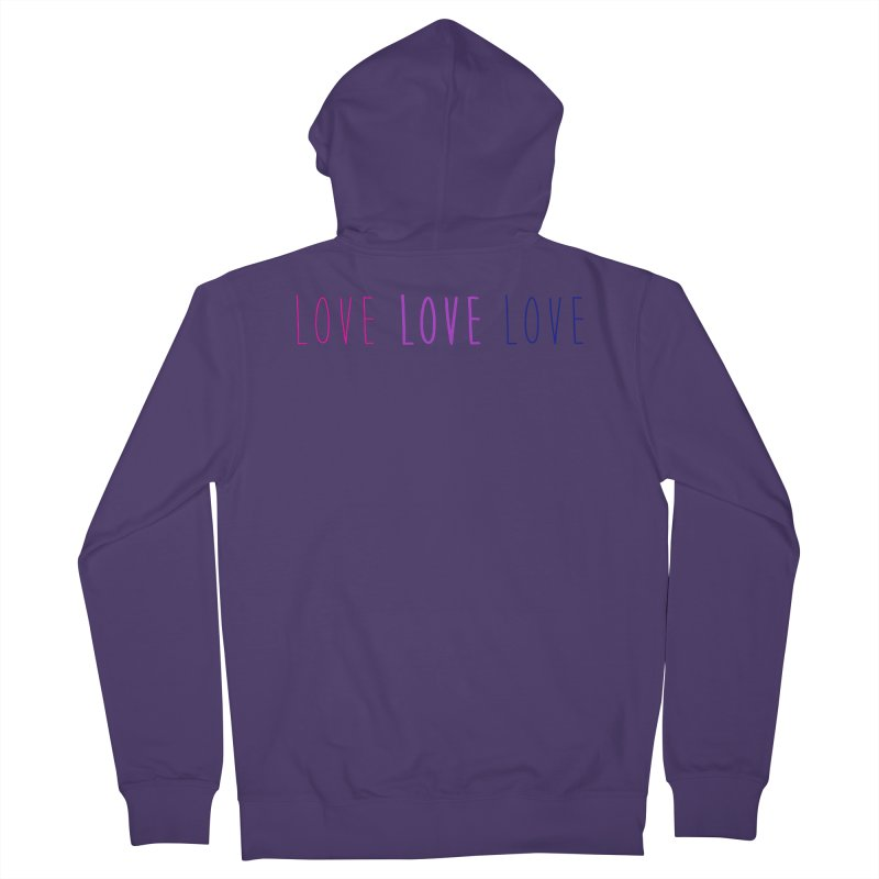 BI LOVE Women's French Terry Zip-Up Hoody by Prismheartstudio 's Artist Shop