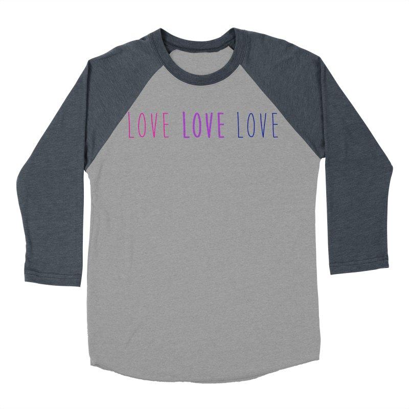 BI LOVE Women's Baseball Triblend Longsleeve T-Shirt by Prismheartstudio 's Artist Shop