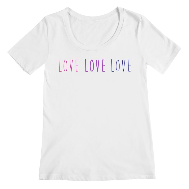 BI LOVE Women's Regular Scoop Neck by Prismheartstudio 's Artist Shop