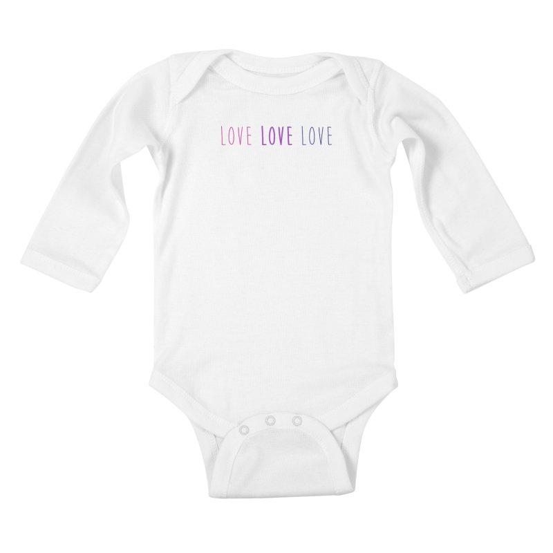 BI LOVE Kids Baby Longsleeve Bodysuit by Prismheartstudio 's Artist Shop