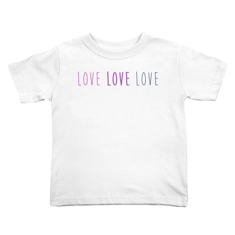 BI LOVE Kids Toddler T-Shirt by Prismheartstudio 's Artist Shop