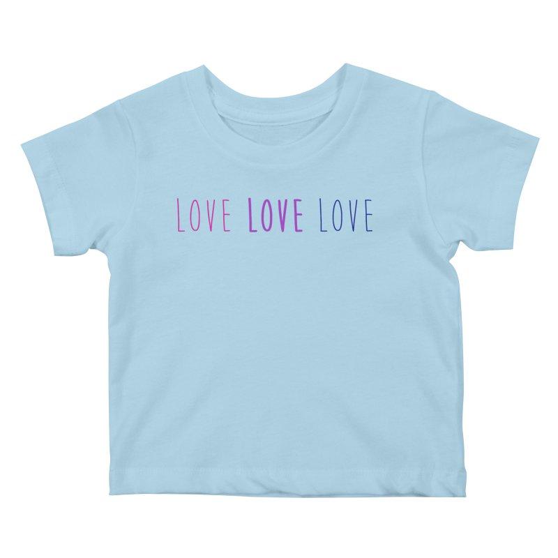 BI LOVE Kids Baby T-Shirt by Prismheartstudio 's Artist Shop