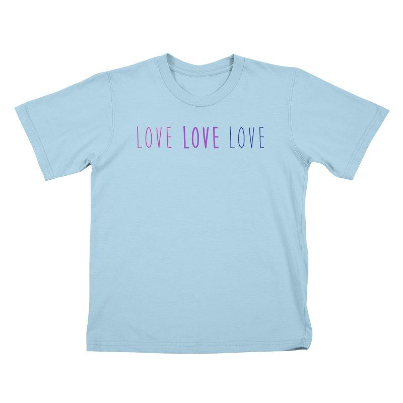 BI LOVE Kids T-Shirt by Prismheartstudio 's Artist Shop