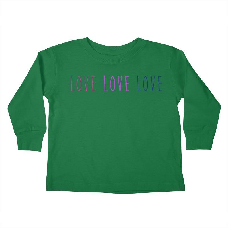 BI LOVE Kids Toddler Longsleeve T-Shirt by Prismheartstudio 's Artist Shop