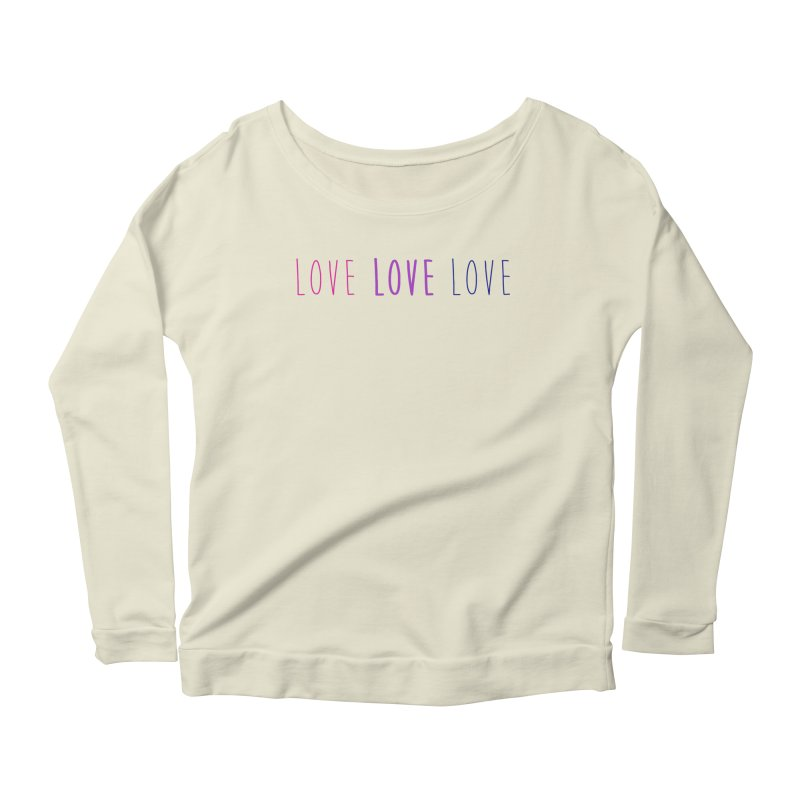 BI LOVE Women's Scoop Neck Longsleeve T-Shirt by Prismheartstudio 's Artist Shop