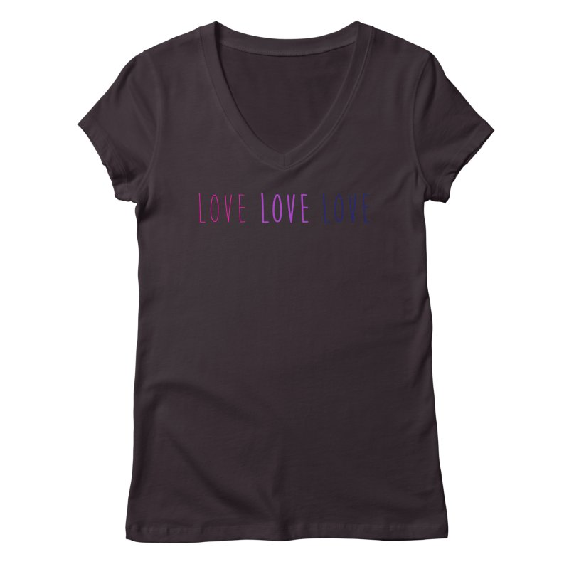 BI LOVE Women's Regular V-Neck by Prismheartstudio 's Artist Shop