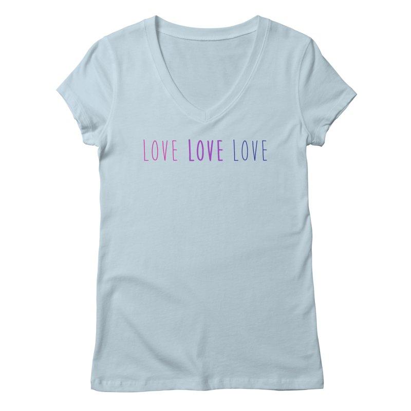 BI LOVE Women's Regular V-Neck by Prismheartstudio 's Artist Shop
