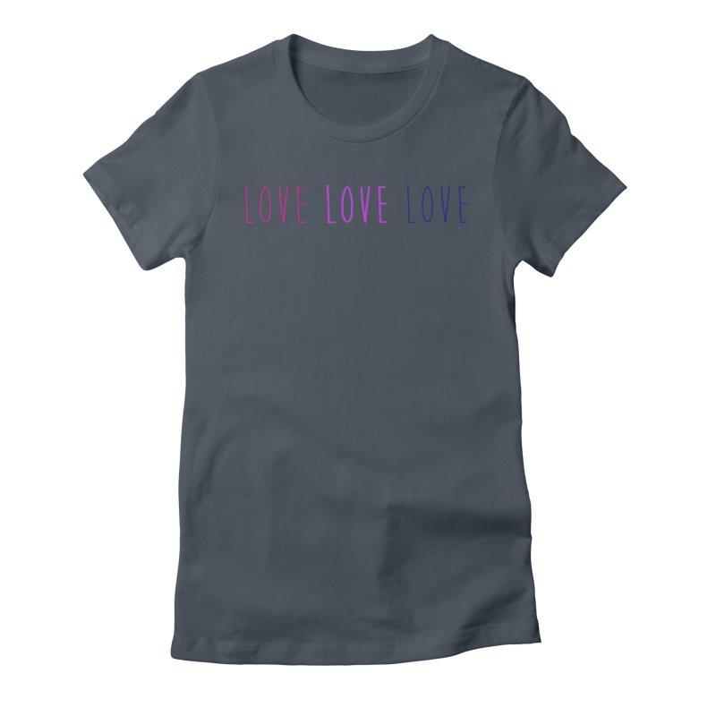 BI LOVE Women's Fitted T-Shirt by Prismheartstudio 's Artist Shop