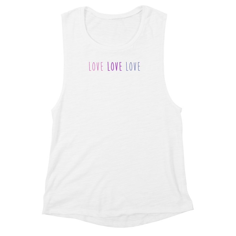 BI LOVE Women's Muscle Tank by Prismheartstudio 's Artist Shop