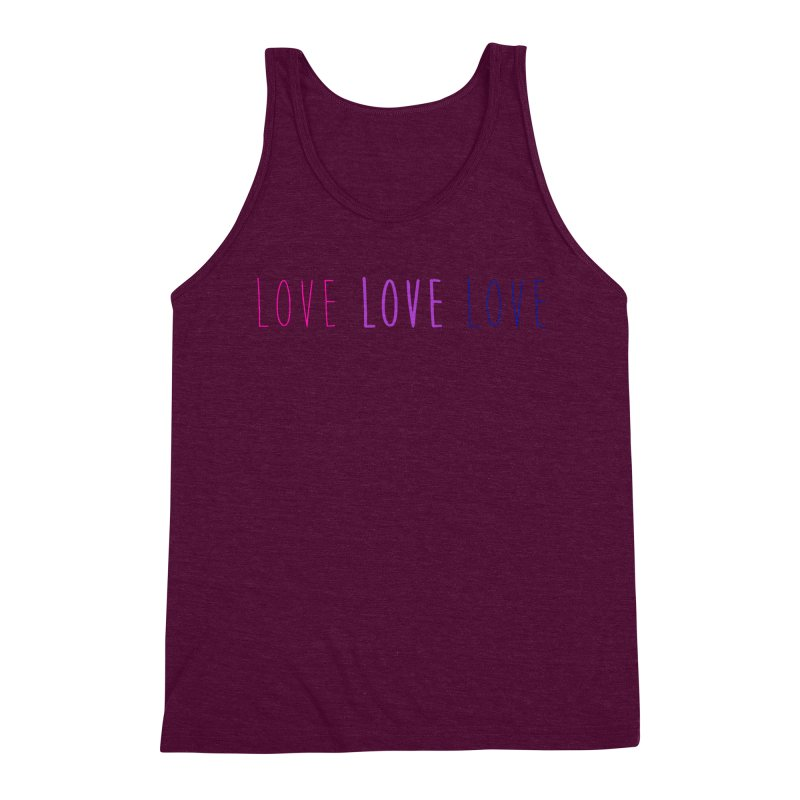 BI LOVE Men's Triblend Tank by Prismheartstudio 's Artist Shop