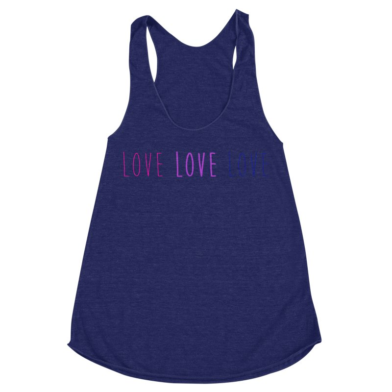 BI LOVE Women's Racerback Triblend Tank by Prismheartstudio 's Artist Shop