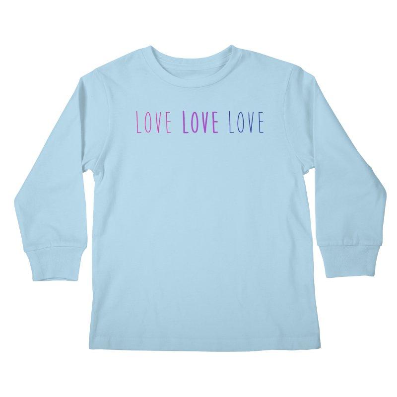 BI LOVE Kids Longsleeve T-Shirt by Prismheartstudio 's Artist Shop