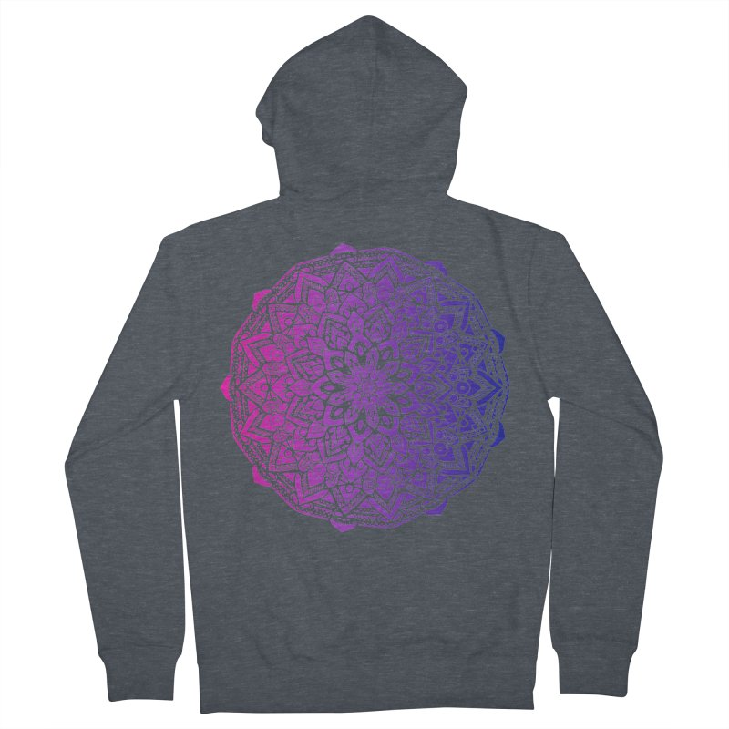 Bi Mandala Women's French Terry Zip-Up Hoody by Prismheartstudio 's Artist Shop