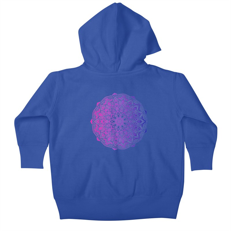 Bi Mandala Kids Baby Zip-Up Hoody by Prismheartstudio 's Artist Shop