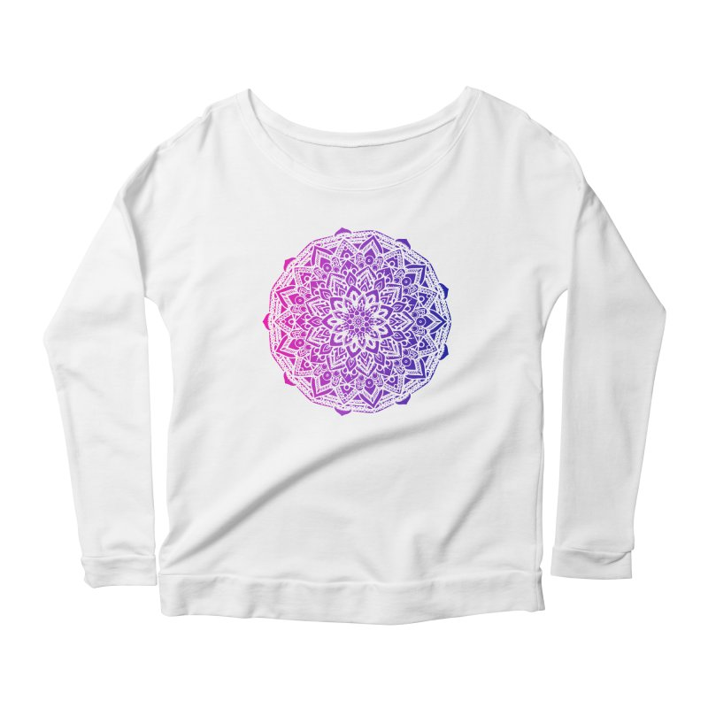 Bi Mandala Women's Scoop Neck Longsleeve T-Shirt by Prismheartstudio 's Artist Shop