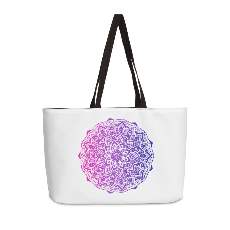 Bi Mandala Accessories Weekender Bag Bag by Prismheartstudio 's Artist Shop